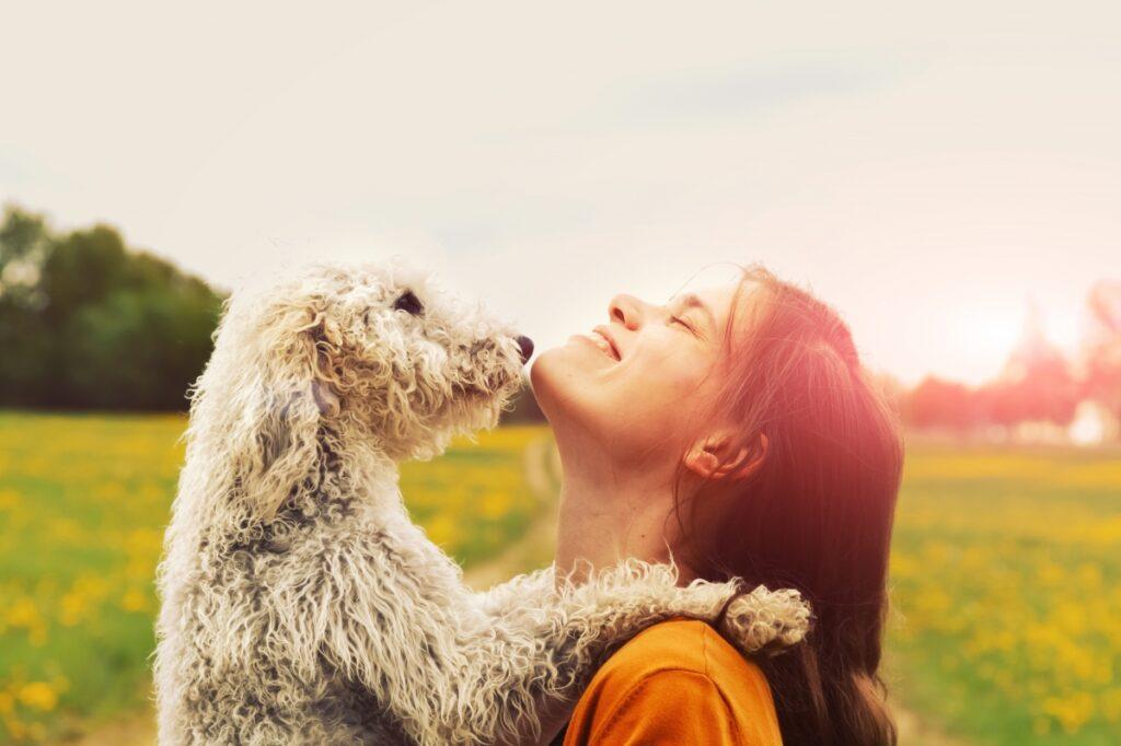 pas i žena